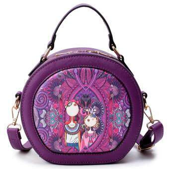 AOYI 2017 New Fashion Forest Style PU Leather Single Shoulder BagCrossbody Bag Handbag Women Bag ( Purple )