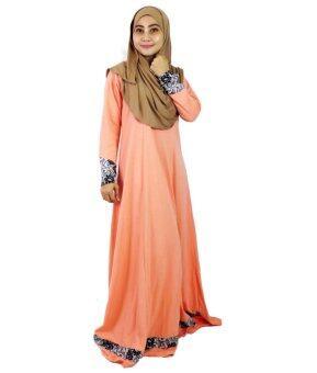 Aqeela Muslimah Wear Almira Nursing Jubah Peach