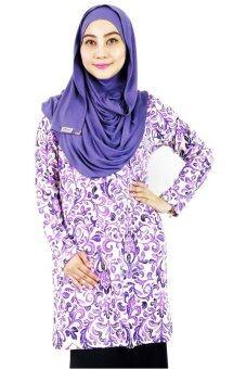 Aqeela Muslimah Wear Basic Top Purple Fleur De Lis