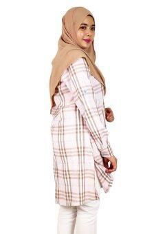 Aqeela Muslimah Wear Career Plaid Pink - 3