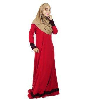Aqeela Muslimah Wear Lace Nursing Jubah Red