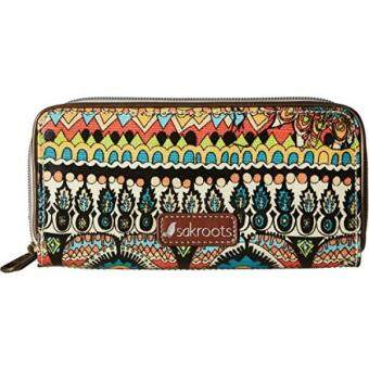 Artist Circle Double Zip Wallet Wallet, NATURAL ONE WORLD, One Size - intl