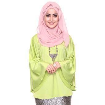 Azzara Cottons Silky Kaftan Top - Apple Green