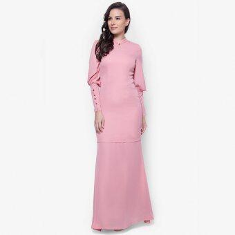 Baju Kurung With Balloon Sleeves - Vercato Azra in Dusty Pink