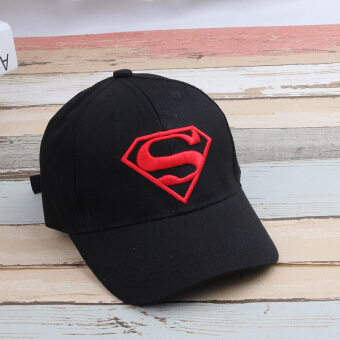 Harga Batman for men and women baby visor sun cap (The age of my papers +Size fits all + Superman cap black hat red label)