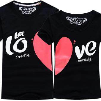 Black Heart Couple T-Shirt (Price for One T-Shirt)