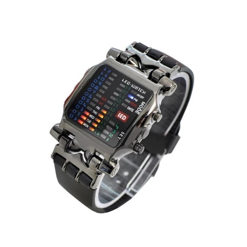 Bluelans® Mens Black Rubber Wrist Watch Malaysia