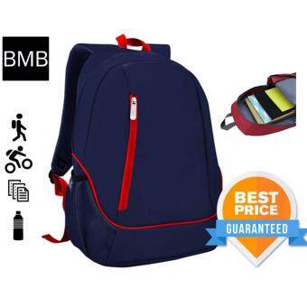 BMB Travel Casual Office Outdoor Day Backpack Bag S02-555STD-02Navy Blue