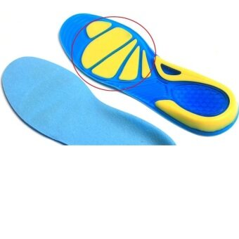 BolehDeals Unisex Silicone Gel Arch Support Sports Insoles ShockAbsorption Shoe Pads M - 3