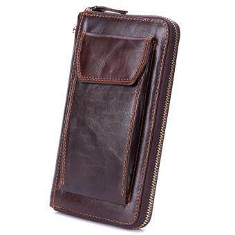 Boshiho Soft Leather Men iPhone Wallet Organizer with Credit Card Holder/Cash pocket/Wristlet