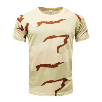 Brand New Summer Military Camouflage Men T-shirt Casual TacticalArmy Combat O Neck T Shirt Men Quick Dry Short Sleeve Camo Clothing - 2