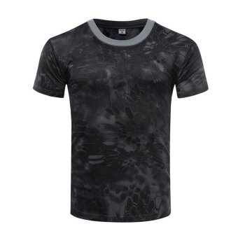 Brand New Summer Military Camouflage Men T-shirt Casual TacticalArmy Combat O Neck T Shirt Men Quick Dry Short Sleeve Camo Clothing - 3