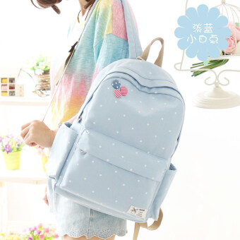 Canvas backpack tide day Korean-style junior high school students on campus small fresh minimalist Sen series high school students bag female shoulder bag
