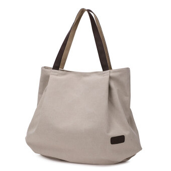 Canvas bag 2017 Korean-style New style shoulder bag spring and summer simple wild tide female big bag casual canvas handbag