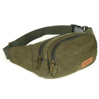 Canvas Travel Hiking Waist Bag Bum Bag Zip Pouch Belt Wallet Cycling Fanny Pack