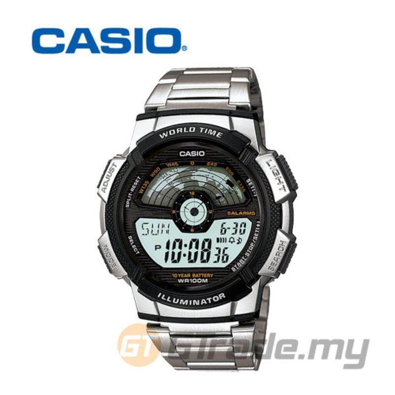 Casio Mens Silver Stainless Steel Strap Watch AE-1100WD-1AV Malaysia