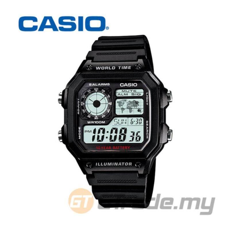Casio Standard Mens Black Resin Strap Watch AE-1200WH-1AV Malaysia