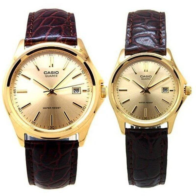 Casio STANDARD MTP/LTP-1183Q-9A Genuine Leather Band Couple Watch Gold Malaysia