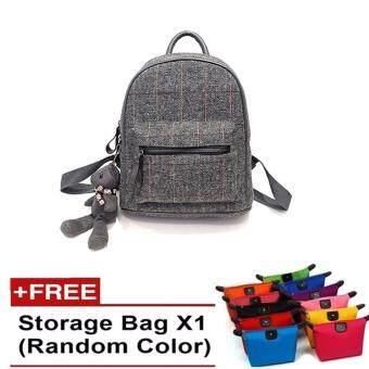 Casual Bags Women Broadcloth Backpack-grey [Buy 1 get 1 free storage bag]