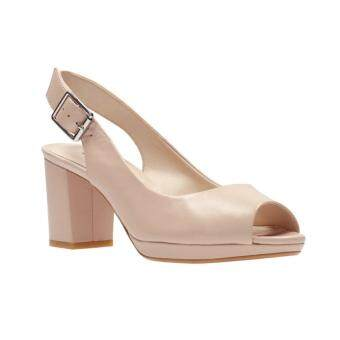 Harga Clarks Kelda Spring Womens High Heels (Nude Leather)