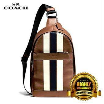 Harga Coach 72226 Charles Pack in Varsity Leather (Dark Saddle)