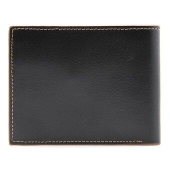 COMO Stitched Leather Wallet Coffee - 3