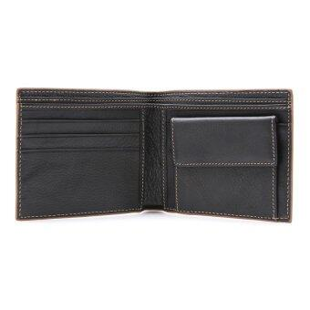 COMO Stitched Leather Wallet Coffee - 5