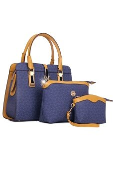 COMO Tote Bags Set of 3- Blue