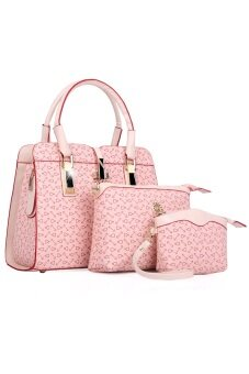 COMO Tote Bags Set of 3 -Pink