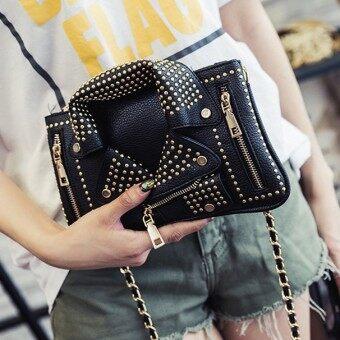 Cool hand clutch bag rivet chain small square bag creative clothes handbag clutch bag small bag tide suit messenger bag