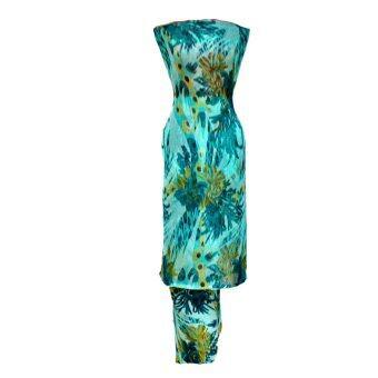 Cotton & Silk Fabric Kain Ela Meter Baju Kurung Chiffon Matching Valentino Crepe 502c