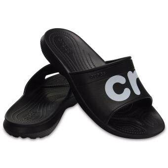Crocs Classic Graphic Slides Blk/Whi