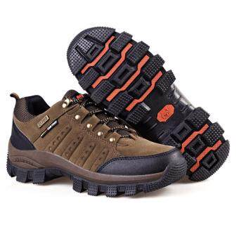 EcoSport FS305 Men Hiking Climbing Sport Trekking Waterproof Running Shoes (Brown)
