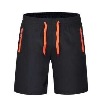 EcoSport Men Sports Gym Quick Dry Short Pants Beach Surfing Sweatpants (Orange)