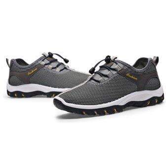 EcoSport Men Textile Breathable Outdoor Running Shoes (Grey)