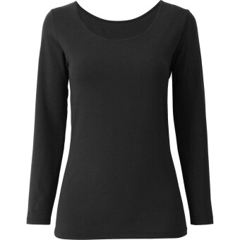 Era Maira - Marvi Inner Full Sleeve Cotton Shirt (Black