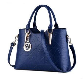 European Fashion Ladies Casual Shoulder Messenger Bag   Tote Bag  Backpack   Set Bag Collection - Blue