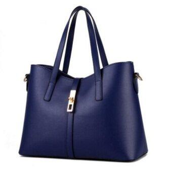 European Fashion Ladies Casual Shoulder Messenger Bag   Tote Bag  Backpack   Set Bag Collection - Violet