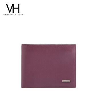 First layer of leather photo bit wallet men's bag (Wine red color (02365))