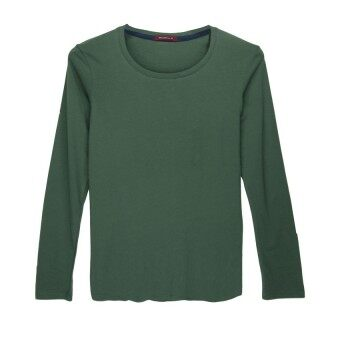 F.O.S NAVY & NAVY WOMEN'S BASIC GREEN LONG SLEEVED TEE