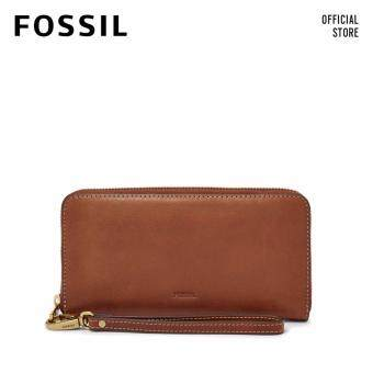 Harga FOSSIL EMMA BROWN LARGE ZIP CLUTCH