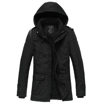 Free Shipping 2016men's New Winter Jacket Male Casual FashionCotton Down Jacket Hooded Wadded Coat Size M-XXXL Black