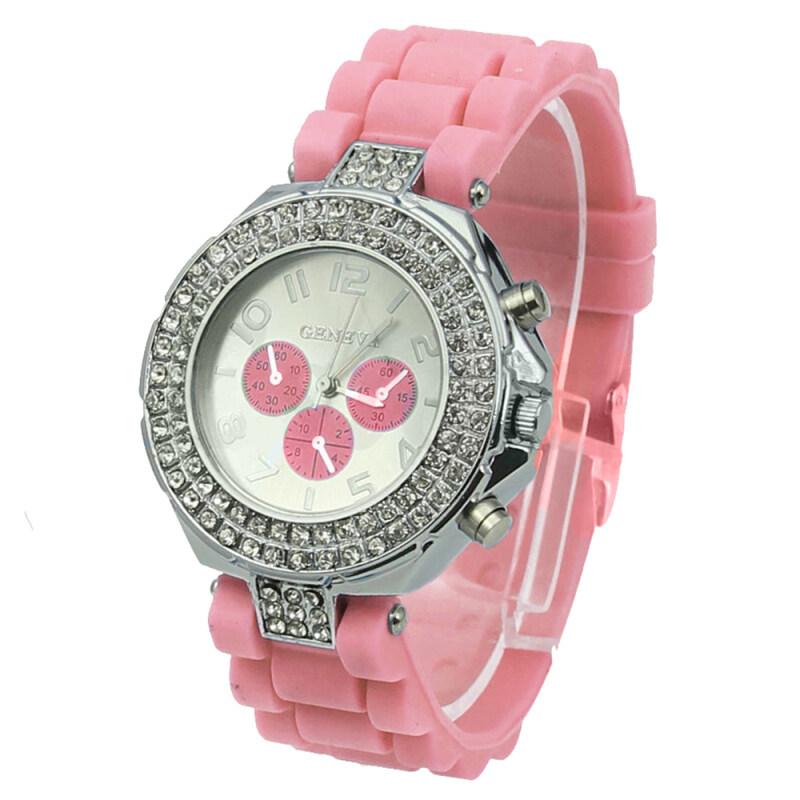 GENEVA Womens Silicone Strap Watch (Pink) Malaysia