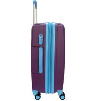 Handry 20 inch Anti-Break PP Hard Case Trolley (Purple Blue) - 3