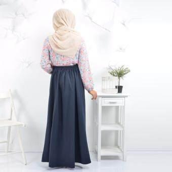 Haniya Flared A Line Skirt ( Dark Blue) - 3