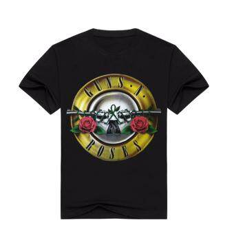 Harga Hequ New Guns N' Roses Print Men Women Summer T Shirts GNR MusicBand Men's T Shirts Short Sleeve Cotton Men Top Tees
