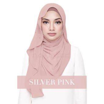 [Hijab & Me ] Naelofar Hijab Latiffa - Silver Pink