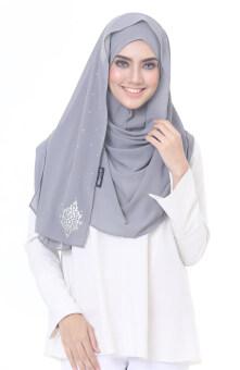 Hijab Fesyen Chenta Instant Shawl Grey