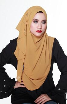 Hijab Fesyen Delaila Instant Shawl 2 Loops Gold