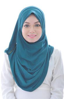 Hijab Fesyen Qaseh Instant Shawl 2 Loops Green